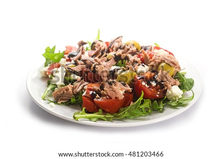 Quotwhite Tunaquot Stock Images RoyaltyFree Images  Vectors - Tuna salad mediterranean style