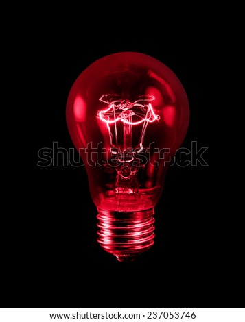 tungsten light bulb isolated on black background