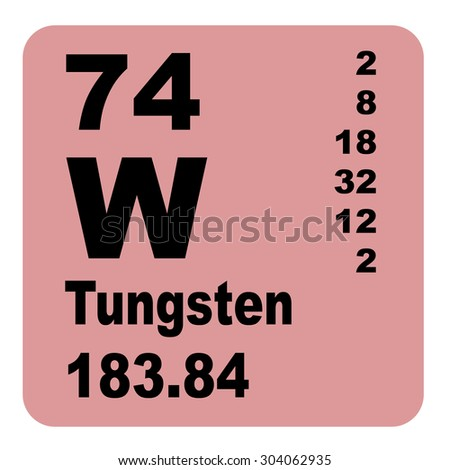 Tungsten periodic table elements stock illustration 304062935 tungsten periodic table of elements urtaz Image collections