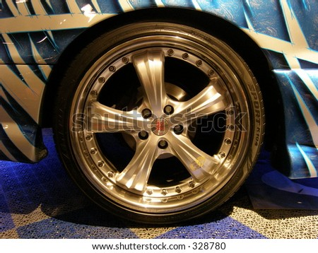 Tuning tires - stock photo