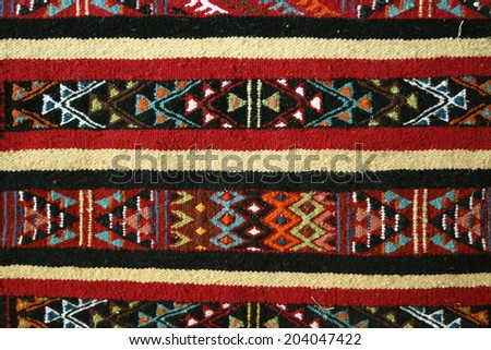 Tunisian berber's carpet style - margoum.  - stock photo