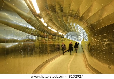Tunnel action - stock photo