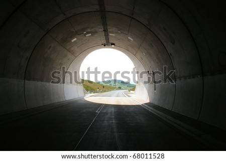 Tunnel (at a german highway in Thuringia) - stock photo