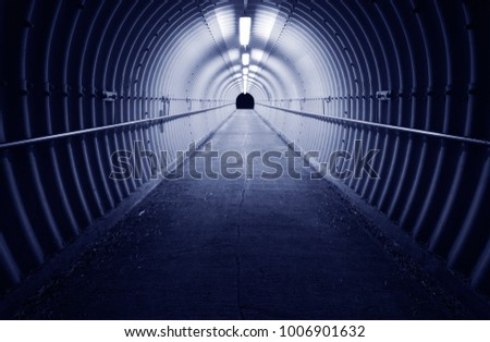 Tunnel in dark