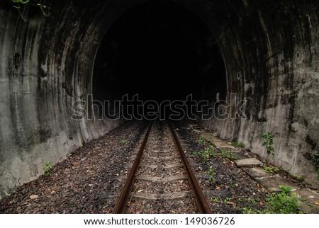 Tunnel of the railway - stock photo