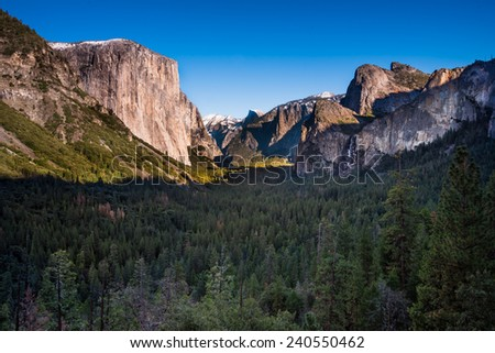 Tunnel View Yosemite National Park  - stock photo
