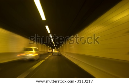 Tunnel vision - stock photo