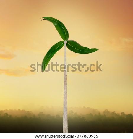 Turbine Generators natural energy concept - stock photo