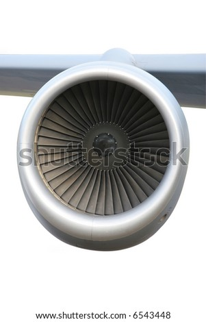 Turbine of airplane (clipping path is included)