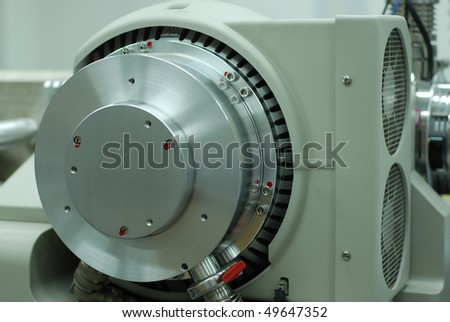 turbo pump of mass spectrophotometer - stock photo