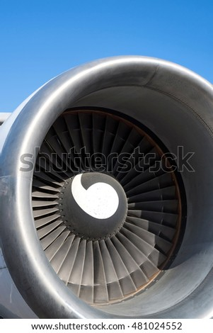 turbofan engine of an airliner