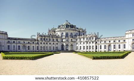 Turin, Italy - April 25, 2016:  Palazzina di Caccia di Stupinigi, Savoy Royal Residences, located in Turin and its surroundings - stock photo
