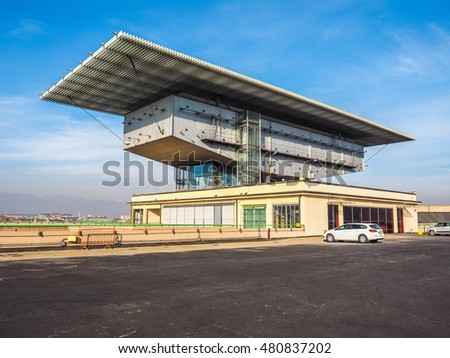 TURIN, ITALY - DECEMBER 16, 2015: Pinacoteca Agnelli art gallery designed by Renzo Piano at Lingotto former Fiat car factory (HDR)