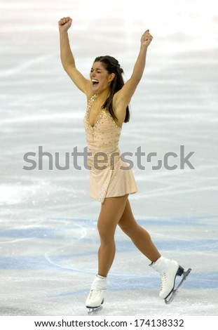 TURIN, ITALY - FEBRUARY 24, 2006: Silvia Fontana (Italy) performs during the Winter Olympics female's final of the Figure Ice Skating.