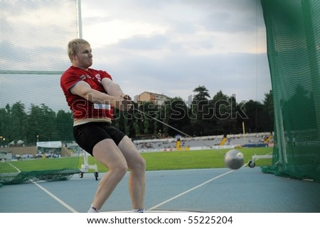 Hammer Throw Field Hammer Throw During The