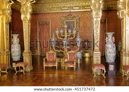 TURIN, ITALY - JUNE 3, 2016: The interior of the magnificent Royal Palace