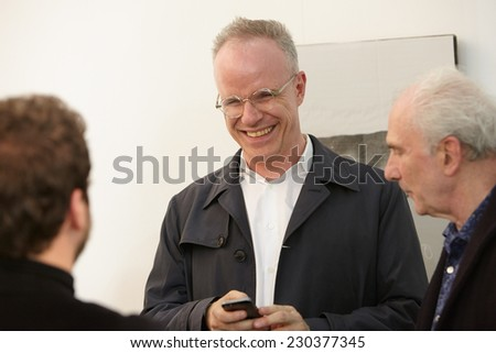 TURIN, ITALY - NOVEMBER 06: Hans Ulrich Obrist, art curator and critic at Artissima, contemporary art fair vernissage on November 6, 2014 in Turin.