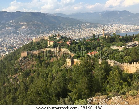 Turkey. Alanya Castle. Viewing point. - stock photo