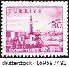 TURKEY - CIRCA 1959: A stamp printed in Turkey shows Batman Oil refinery, circa 1959.  - stock