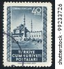 TURKEY - CIRCA 1952: stamp printed by Turkey, shows Mosque, Istanbul, circa 1952 - stock photo