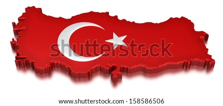 Turkey  (clipping path included) - stock photo