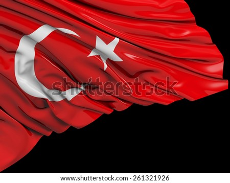 Turkey Flag with black