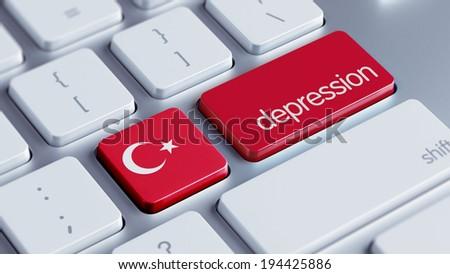 Turkey High Resolution Depression Concept - stock photo