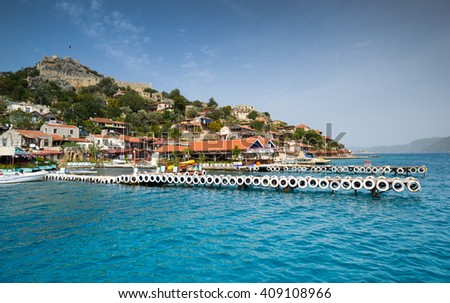 Turkey, Mediterranean Sea, famous place Kekova, Simena - stock photo