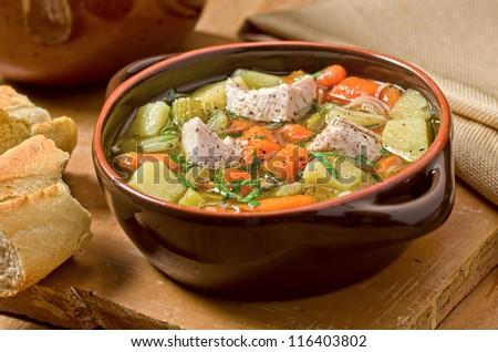 Turkey Soup - stock photo