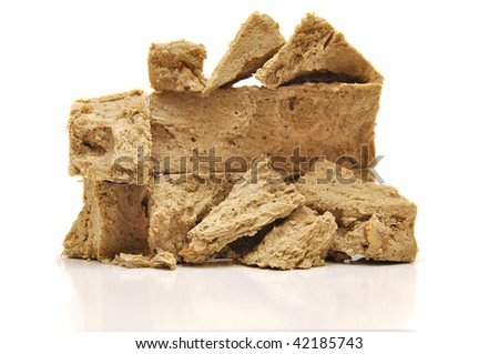 turkey sweet halva isolated on white - stock photo