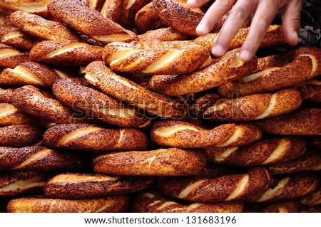 turkish bagel - stock photo