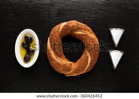 Turkish Bagel / Cheese / Olive / Simit