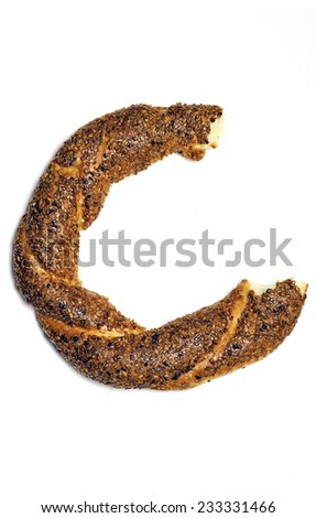 Turkish bagel, simit.  - stock photo