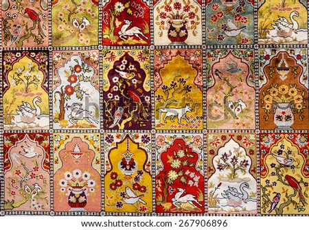 Turkish Carpet Background - stock photo