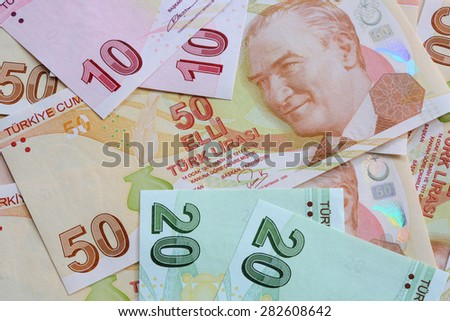 Turkish Currency - stock photo