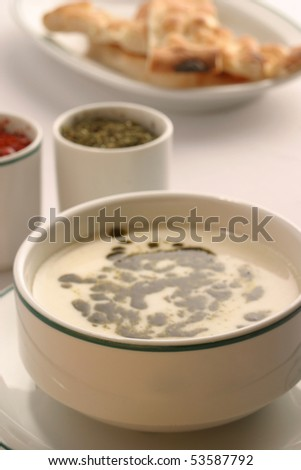 turkish delicious cold drink with yoghurt - stock photo