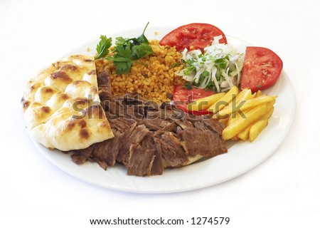 turkish doner - stock photo