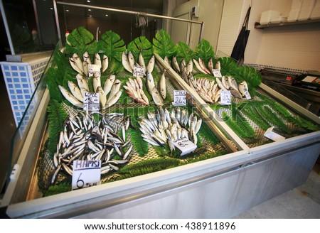 Turkish fish counter. - stock photo