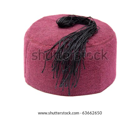 turkish hat isolated on white background - stock photo