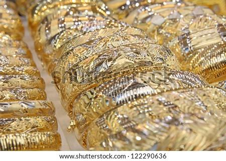 Turkish jewelry Store in istanbul - stock photo