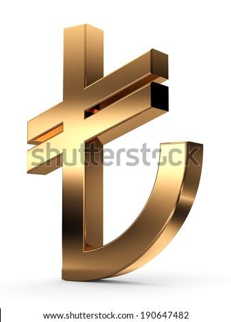 Turkish Lira Sign. - stock photo