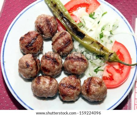 Turkish Meatball - stock photo