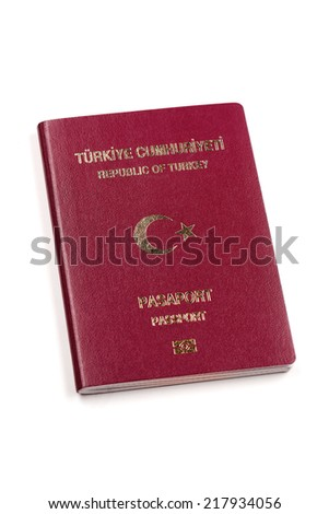 Turkish Passport, TURKEY - stock photo