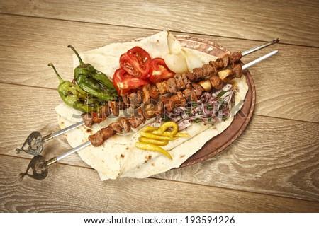 Turkish Sis Kebab - stock photo