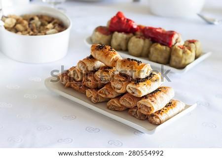 Turkish style borek - stock photo