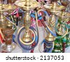 Turkish tobacco water pipes - stock photo