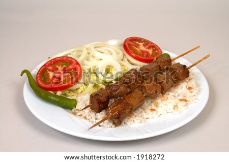 Turkish traditional food with rice - stock photo
