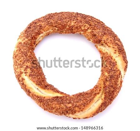 Turkish traditional sesame bagel. - Simit - - stock photo