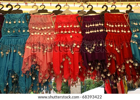 Turkish women's clothes, - stock photo