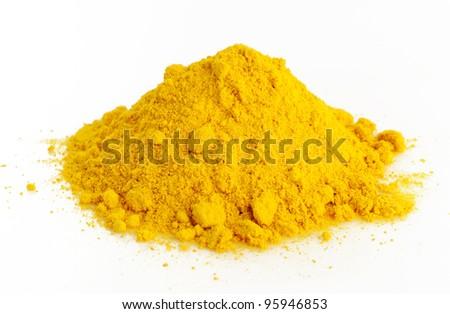 turmeric powder - stock photo
